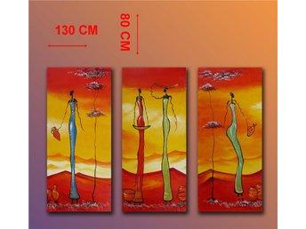 Abstrakt, oljemålning 130x80 cm - Tollarp - Abstrakt, oljemålning 130x80 cm - Tollarp