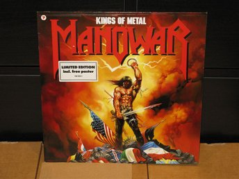 MANOWAR - KINGS OF METAL LP HEAVY METAL orginal från 1988 i fint skick