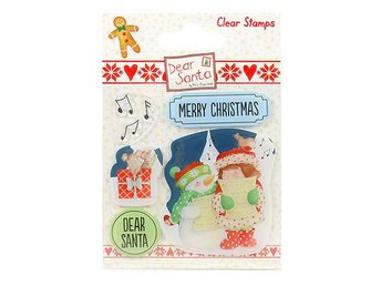 JUL CLEAR STAMPS - CAROL SINGING TILL SCRAPB./KORT