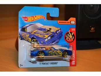 77 Pontiac Firebird, Blå 1977 Flames Hot Wheels 2017 5/10 Ny