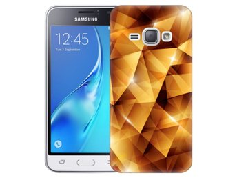 Samsung Galaxy J1 (2016) Skal Golden Polygons