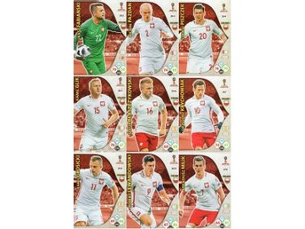 Panini Adrenalyn World Cup RUSSIA 2018 - POLEN - 9 x Team mates