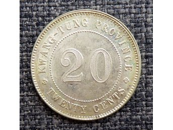 CHINA KWANGTUNG PROVINCE 20 CENTS