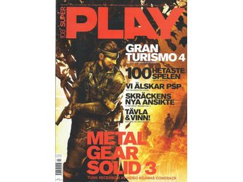 SUPER PLAY  NR 108 - METAL GEAR SOLID 3 , GRAN TURISMO 4