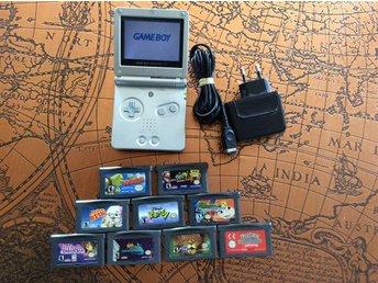 Gameboy Advance med laddare och 9 spel. - Smålandsstenar - Gameboy Advance med laddare och 9 spel. - Smålandsstenar