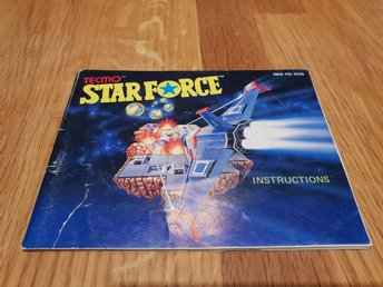 Starforce SCN Manual Nintendo 8-bit NES