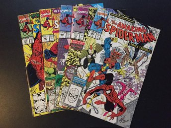 The Amazing Spider-man 340,341,342,343,345 (VF/NM)