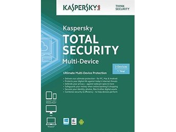 Kaspersky Total Security 2016 Multi Device, 3 PC, 1 År