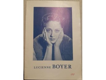 Lucienne Boyer Stockholm 1937 Program