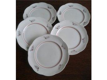 5 st assietter från GEFLE 40 tal 19 cm i diameter. - Huddinge - 5 st assietter från GEFLE 40 tal 19 cm i diameter. - Huddinge