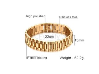 Armband Vnox Vintage Stainless Steel Brac gold color