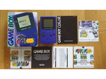 Fint GBC Gameboy Game Boy Color Colour (komplett, svensksålt)