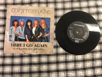 WHITESNAKE / HERE I GO AGAIN / GUILTY OF LOVE / VINYL SINGEL FRÅN 1987.