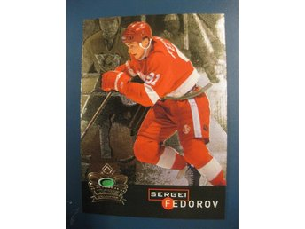 SERGEI FEDOROV - PARKHURST 95-96 -INSERT- CROWN COLLECTION GOLD - GULD PARALLELL