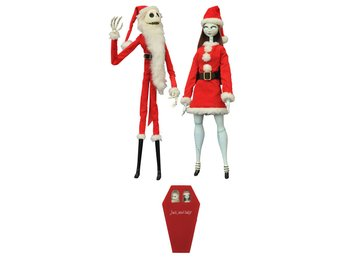 Nightmare before Christmas Coffin Dolls 2-Pack Santa Jack & Sally Limited Editio