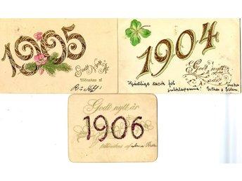 6 årtalskort 1904 1905 1906 19091910 1911 därav ett i småformat - Lenhovda - 6 årtalskort 1904 1905 1906 19091910 1911 därav ett i småformat - Lenhovda