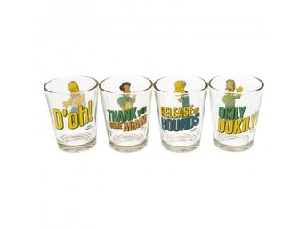 Simpsons Snapsglas 4-pack