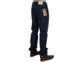 EXTE - Blue Cotton Regular Fit Jeans