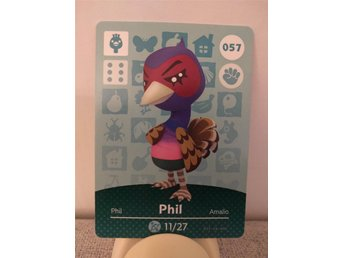 Animal Crossing Amiibo Welcome Amiibo card nr 057 Phil