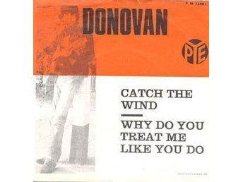 "DONOVAN "" Catch the wind ...""Sweden 1965  7 N 15801 RARE"