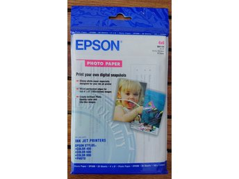"Epson Glossy Photo Paper 4x6"" 20-pack S041134 (NY INPLASTAD)"