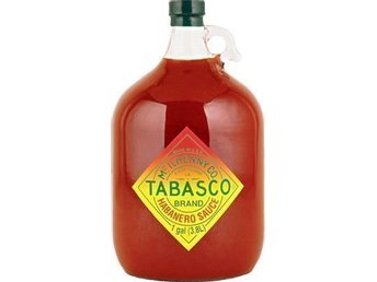 "TOM TABASCO® ""GALLON"" GLAS FLASKA / BUTELJ / DEKORATION / SAMLAR / KÖK / KONTOR"