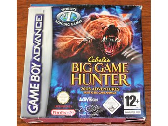 CABELAS BIG GAME HUNTER, GAME BOY ADVANCE SPEL, JAKTSPEL