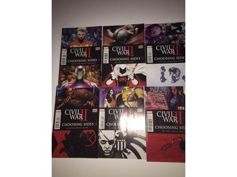 Civil War II Choosing Sides 1-6 Complete (2016) 99sek!!!