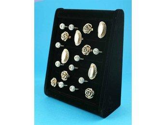 Bred svart sammet Ring Display / Förvaring - Södertälje - Bred svart sammet Ring Display / Förvaring - Södertälje