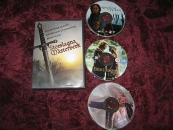 STORSLAGNA MÄSTERVERK 3 ST FILMER (BRAVEHEART,KINGDOM OF HEAVEN,MASTER AND COMMA