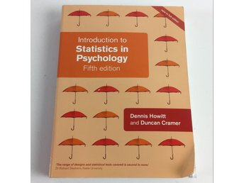 Bok, Introduction to Statistics in Psychology, Dennis Howitt, Inbunden