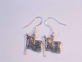 USA flagga örhängen / USA flag earrings - Skelleftea - USA flagga örhängen / USA flag earrings - Skelleftea