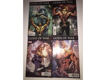 Civil War II Gods of War 1-4 Complete (2016) 99sek!!!