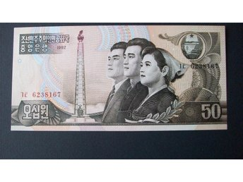 (NK-5) NORD KOREA 50 WON 1992 UNC
