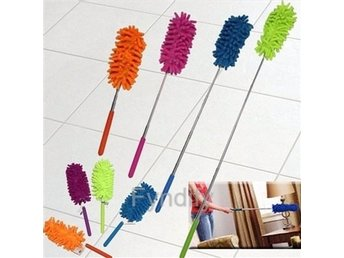 Damvippa Teleskopvarm Grön djustable Chenille Car Feather Duster