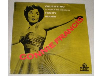 Connie Francis OMSLAG EP Valentino 1960