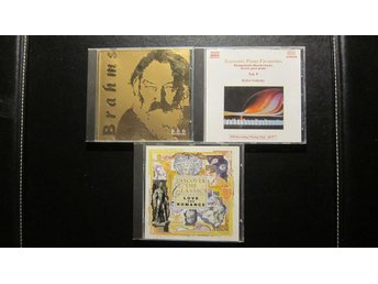 3xCD Klassisk musik (BRAHMS / LISZT / GRIEG / SCARLATTI m.fl) - Täby - 3xCD Klassisk musik (BRAHMS / LISZT / GRIEG / SCARLATTI m.fl) - Täby