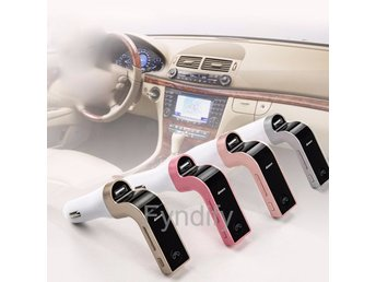 Bluetooth FM Transmitter USB Charger Roséguld