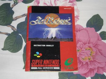 Super Nintendo/SNES: Manual (SCN/svensk) till ActRaiser Act Raiser