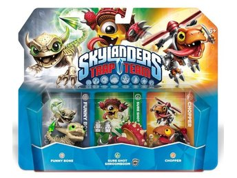 Skylanders Trap Team Triple Pack: Funny Bone, Shroomboom, Chopper (2014)