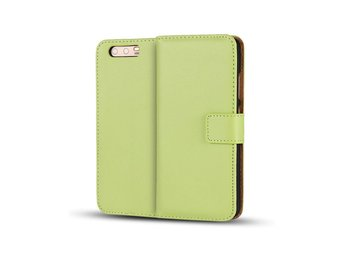 Huawei P10 genuine split leather flip case - Green