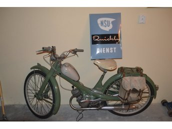 NSU Quickly moped 1956 inklusive emaljskylt