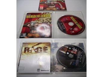 "6st PS3 Spel ""Action/Co-op"" (Borderlands, Rage, Army of Two, Resistance 1, 2, 3)"