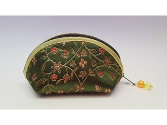 oriental style silk coin purse (OLIVE GREEN)