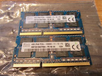 Ram-minne 8 GB HYNIX SO-Dimm DDR3 - 1600 Mhz - 12800S  -  (4 Gb +  4 GB)