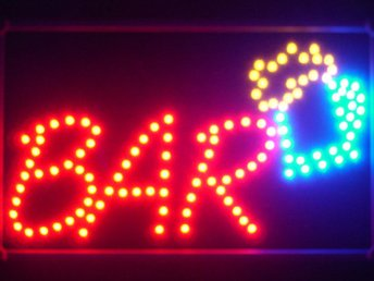 EXKLUSIV BAR LED NEON SKYLT - DISPLAY/REKLAM/DEKORATION/TAVLA/BELYSNING