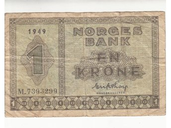 Norge 1 krone 1949 1/1?