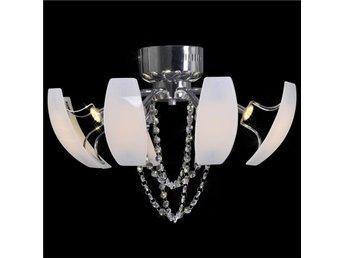 LED-Taklampa med kristaller 52 cm i diameter - Am Venray - LED-Taklampa med kristaller 52 cm i diameter - Am Venray