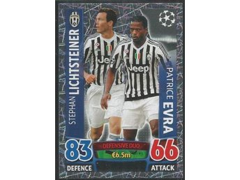 LICHTSTEINER o EVRA - JUVENTUS - 2015-16 Topps MA Champions League - # 468 - åmål - LICHTSTEINER o EVRA - JUVENTUS - 2015-16 Topps MA Champions League - # 468 - åmål