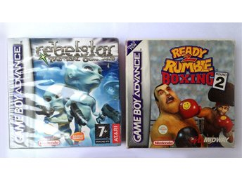 2 boxade spel till GBA - Rebelstar: Tactical Command & Ready 2 Rumble Boxing 2